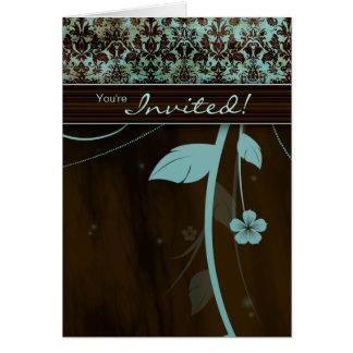 Spa Salon Brochure Greeting Card Flower Blue