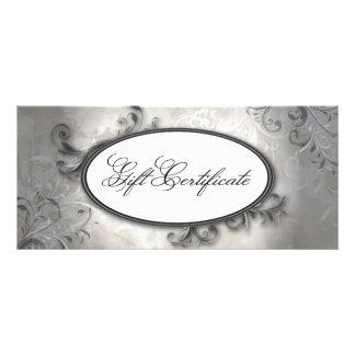 Spa & Salon Elegant Vintage Swirl Gift Certificate Full Color Rack Card