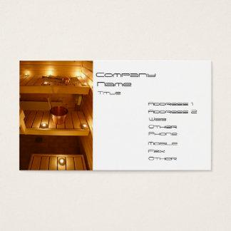 SPA, Sauna Business Card