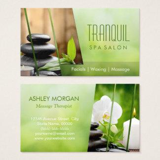 SPA Still Life Beautiful Green Massage Salon Business Card