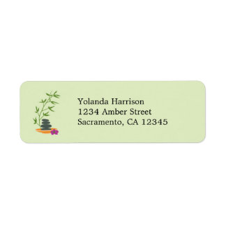 Spa Theme Address Label