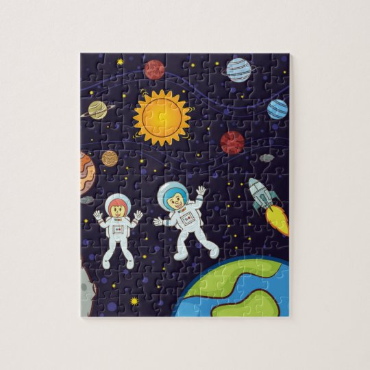Space 8x10 Photo Puzzle with Gift Box