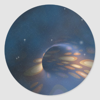 Space Abstract Classic Round Sticker