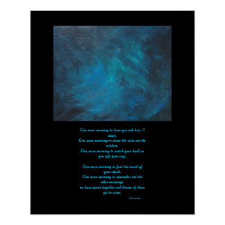 """Space"" Abstract Painting and Love Poetry Poster"