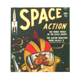 Space Action: Eek!  A Monster! Notepad
