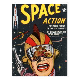 Space Action Postcard