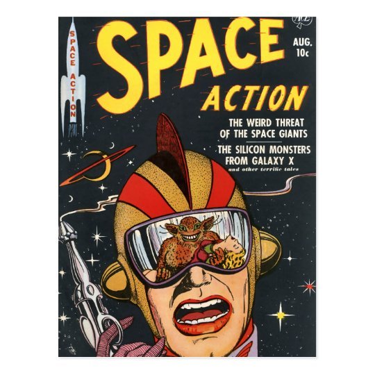 Space Action Postcard
