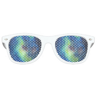 Space Adult Retro Party Shades, White Retro Sunglasses