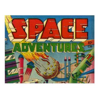 Space Adventurers Comic Book Postcard