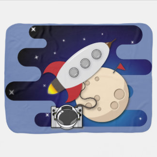 Space Adventures Baby Blanket
