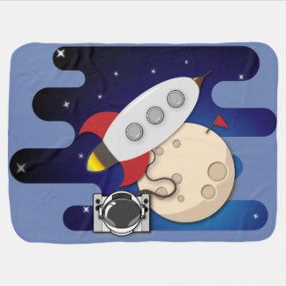 Space Adventures Baby Blanket