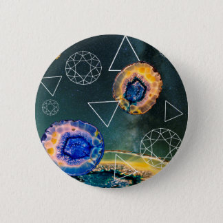 Space Agate 2 Inch Round Button