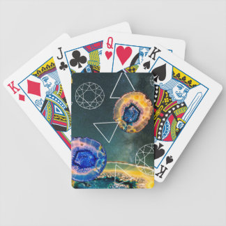 Space Agate Bicycle Playing Cards