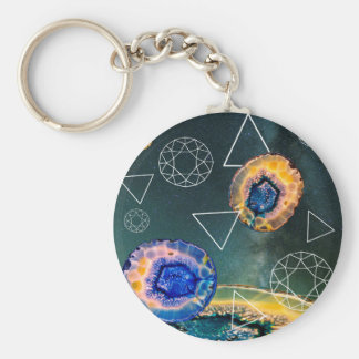 Space Agate Keychain