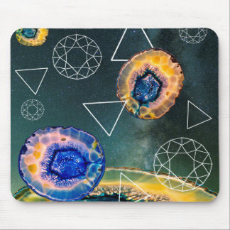 Space Agate Mouse Pad