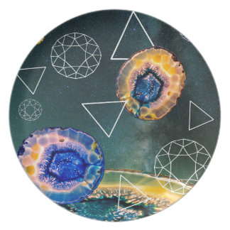 Space Agate Plate