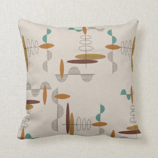 Space Age Explosion Throw Pillow