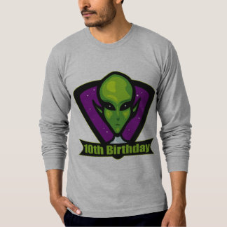 Space Alien 10th Birthday Gifts T-Shirt