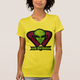 Space Alien 10th Birthday Gifts Tee Shirts