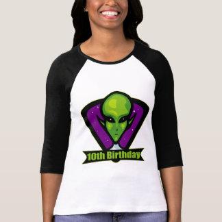 Space Alien 10th Birthday Gifts Tshirt