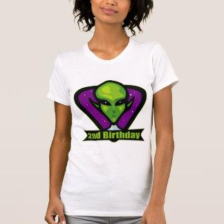 Space Alien 2nd Birthday Gifts Tshirt