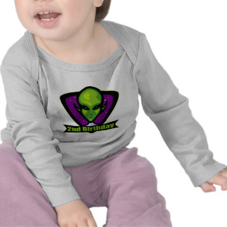 Space Alien 2nd Birthday Gifts Shirt