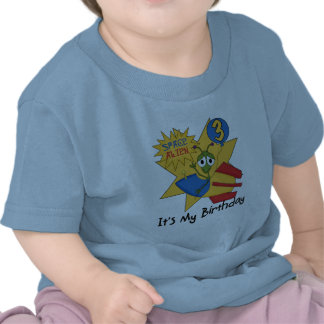 Space Alien 3rd Birthday Tshirts and Gifts