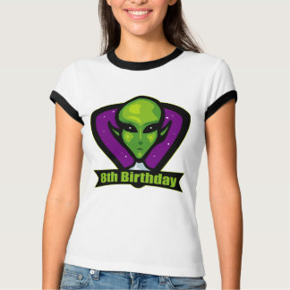 Space Alien 8th Birthday Gifts T-shirts