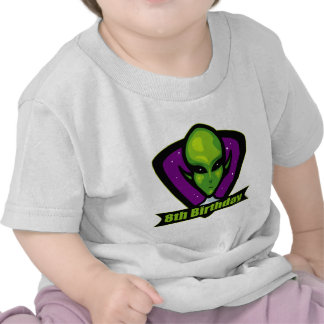 Space Alien 8th Birthday Gifts T Shirts