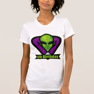 Space Alien 8th Birthday Gifts Tee Shirt