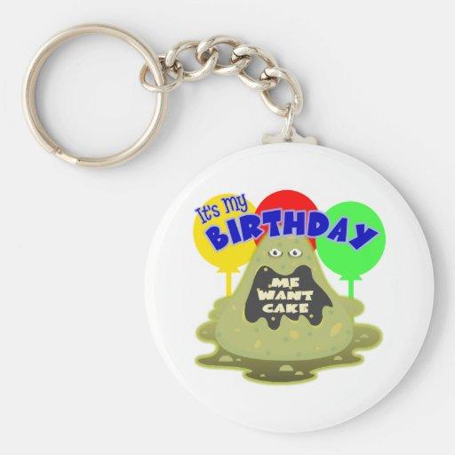 Space Alien Birthday Gift Key Chain