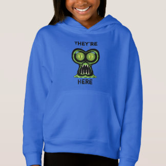 Space Alien Girls' Fleece Pullover Hoodie