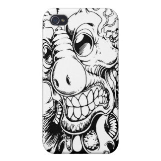 space alien sketch iPhone 4 cover