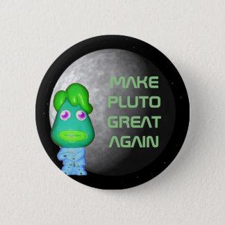 Space Alien Trump Make Pluto Great Again 2 Inch Round Button