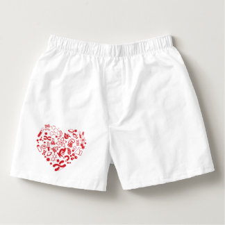 Space And Science Heart Boxers