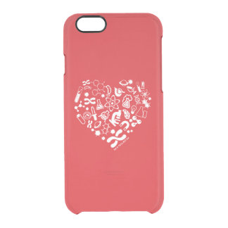 Space And Science Heart Clear iPhone 6/6S Case