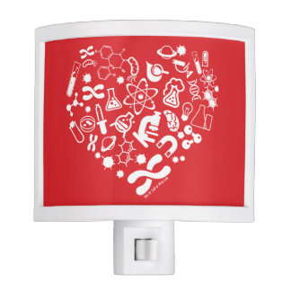 Space And Science Heart Night Lite