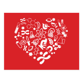 Space And Science Heart Postcard
