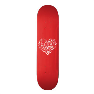 Space And Science Heart Skateboards