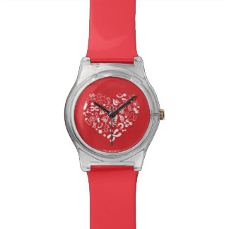 Space And Science Heart Wristwatch