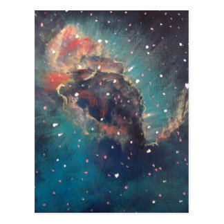 Space Art / Astronomical Art - Carina Nebula Jet Postcard