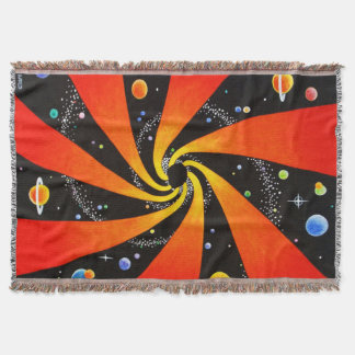 SPACE ART THROW BLANKET