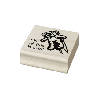 Space Astronaut Grade School Teacher A Plus Rubber Stamp