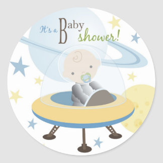 Space Baby Invite Sticker
