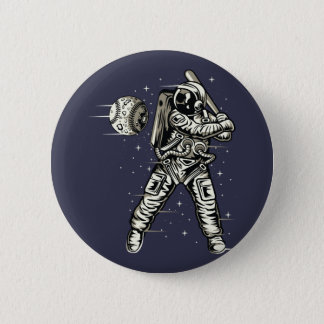 Space Baseball 2 Inch Round Button