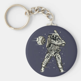 Space Baseball Keychain
