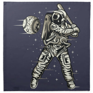 Space Baseball Napkin