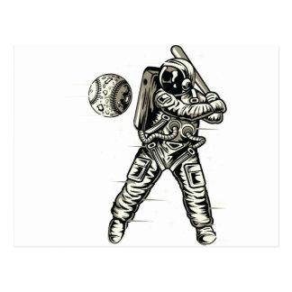Space Baseball Postcard