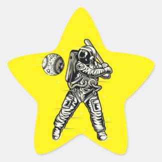 Space Baseball Star Sticker