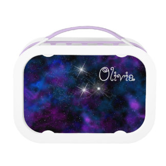 Space beautiful galaxy image lunchbox